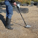 Beach metal detecting is a fun and healthy pastime